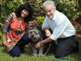 Marian and Alwyn Immerman with Humphrey have set the lofty goal of raising R1-million for the Durban & Coast SPCA. The rescue pooch has already raised more than R234 000 for the organisation since 2014.