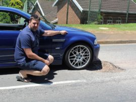 Sunningdale resident, Tyron Powell, said Sugarfarm Trail is in a terrible state with more than six potholes within 300 metres of each other.