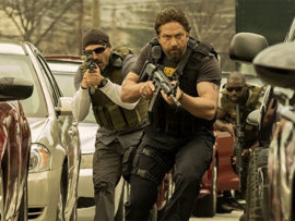 """Den of Thieves stars Gerard Butler and Curtis """"50 Cent"""" Jackson."""