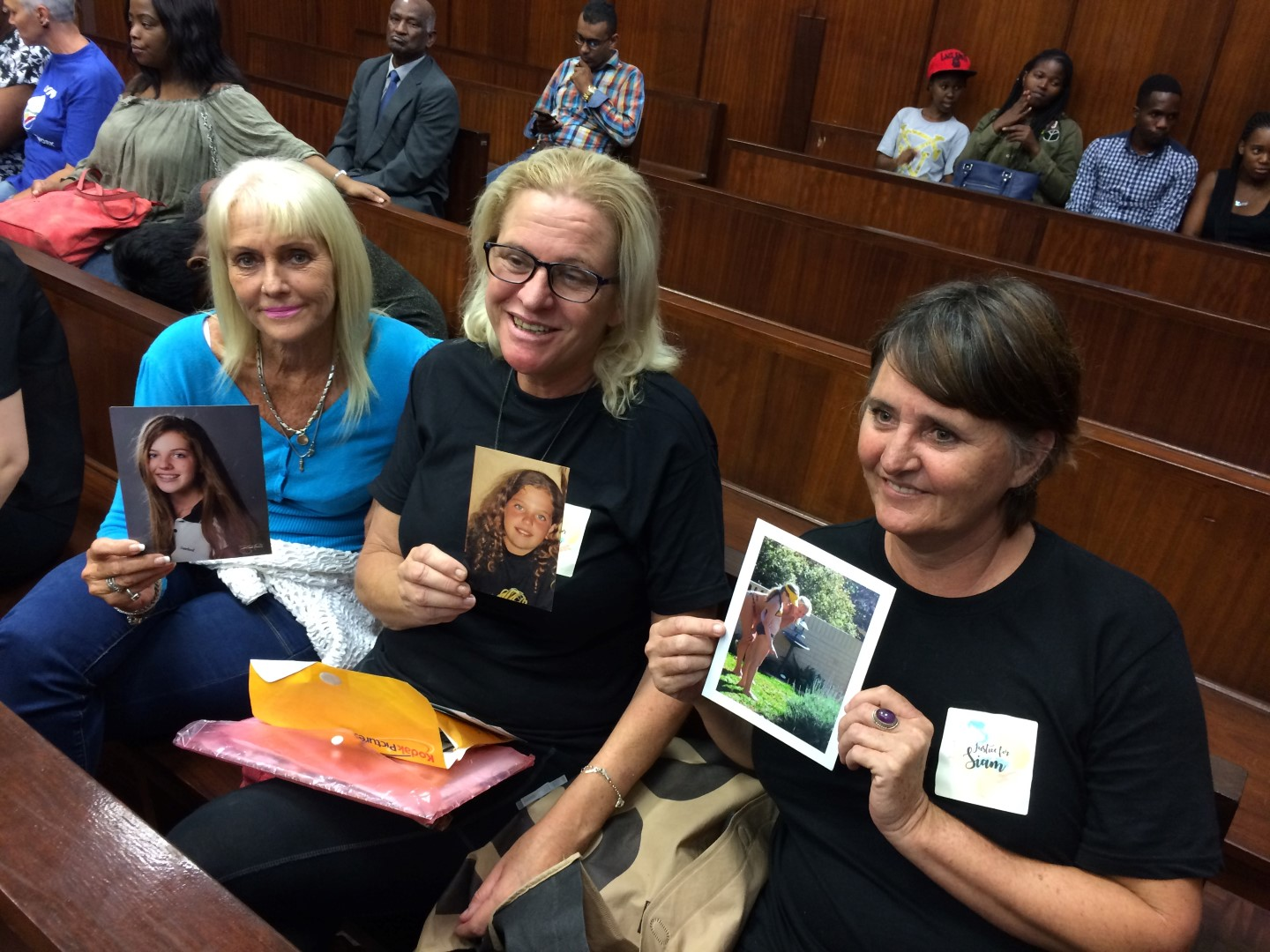 Siam Lee's mother, Carmen Nan Lee, and close friends show photos of Siam Lee.
