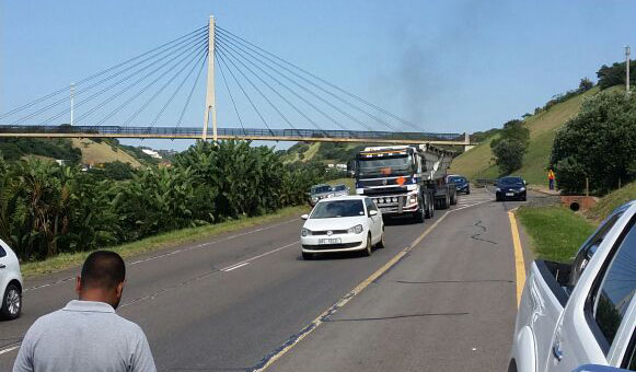 WATCH: Protest action affects traffic on N2 after uMhlanga