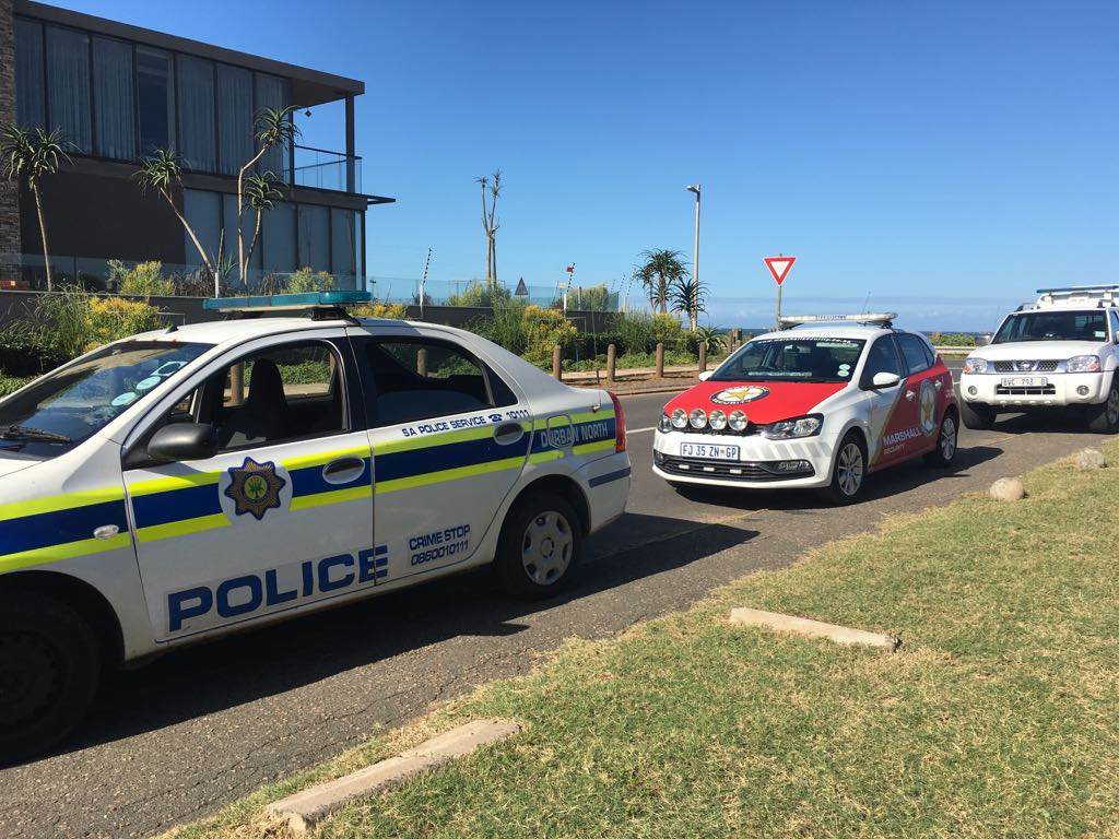 Durban North SAPS and Marshall Security are searching for the suspects. PHOTO: Marshall Security