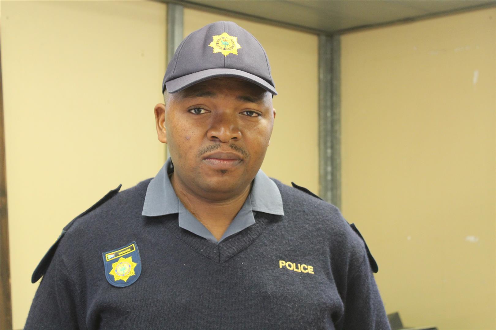 Greenwood SAPS' constable Sihle Makhoba.