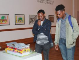 Art and Design students Anele Tom and Banele Ngcobo at the Durban Art Gallery.