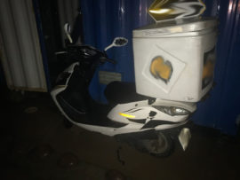 The hijacked bike was recovered in Kenville. PHOTO: Marshall Security