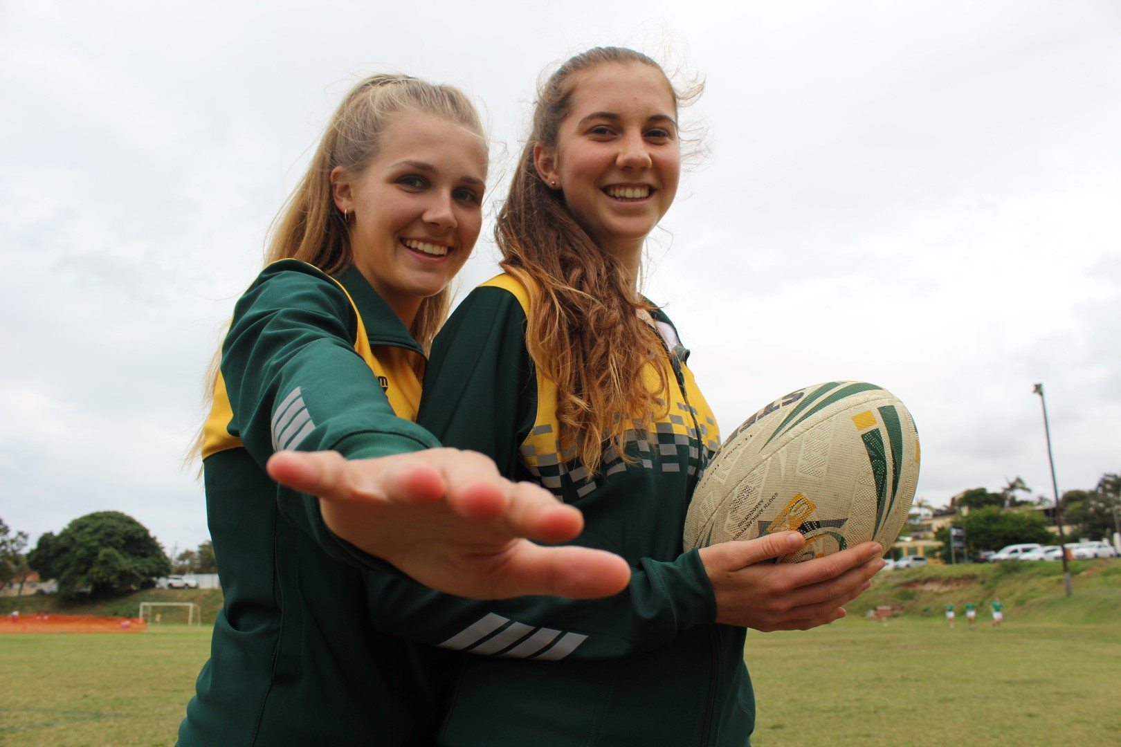 Paige Waberski and Tannah Swart represented the South African U18 ladies team at this year's Federation of International Touch (FIT) Youth Touch World Cup in Malaysia. The team won bronze at the tournament.