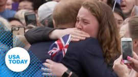 Prince Harry fan cries, shakes after he hugs her