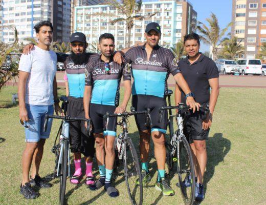 Team Batsalani members, Ozair Ally, Muhammed Parak, Naeem Adam (club chairman), Avie Maharaj and Shiran Naidoo urge anyone who witnessed a hit-and-run on the M4 last week to contact the Durban North SAPS on 031-560 8136.