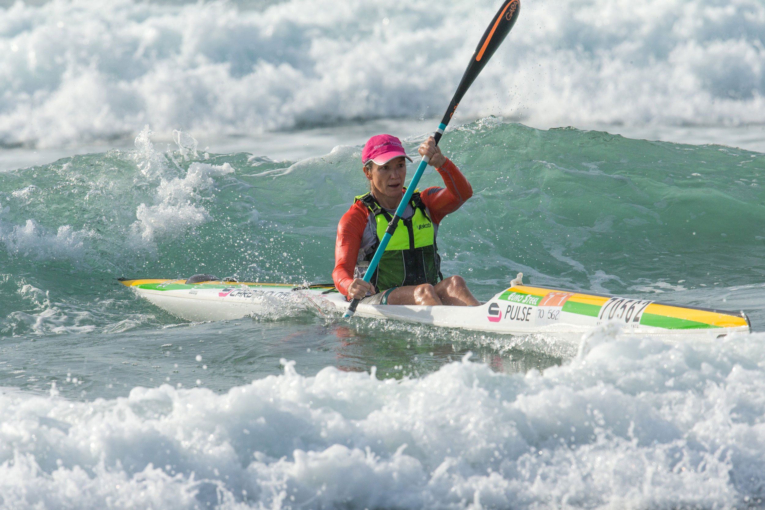 uMgeni Park's Hayley Nixon won the women's national single and doubles ski title at the 2018 Pete Marlin Surfski Race. PHOTO: Top Foto (Gameplan Media)
