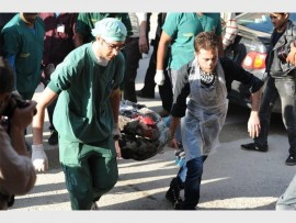 Gift of the Givers volunteers at work at  Darkoush Hospital in Syria.