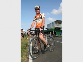 On the pedal: Fred van Zyl of Shelly Beach gets to the starting line. 8201vee