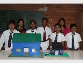 Science teachers Shanie Sookoo (left) and Paro Behari congratulate the five pupils who excelled at the KZN Regional Science Expo in Harding recently (from left) Adikhar Maharaj, Kerisha Moodley, Ntombenhle Ndovela, Janice Naidoo and Jaden Thomas.
