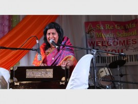 Famous South African devotional and classical singer, Mahenthri Pillay.