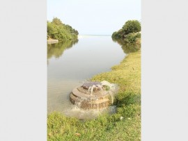 Sewage flows from one of four manholes near the river which leads to Margate main beach.