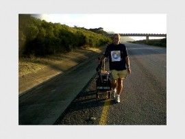 Walk the walk: Terence Olivier of Rainbow Warriors South Africa will leave Hibberdene on September 19 to embark on the ' Woofstock Sterithon'.