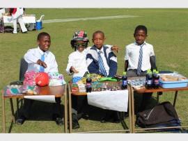 To market to market: Proudly displaying their goods for sale are Sheppie Primary entrepreneurs (from left) Bulelani Zungu, Junior Mchunu, Mongezi Nzama and Samkelo Gumede.
