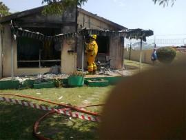 A Hibiscus Coast fireman at the scene.