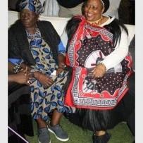 Gogo Sarah Obama (left)  with HCM mayor Cynthia Mqwebu.