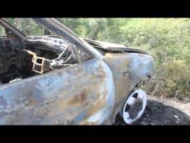 VIDEO: Stolen vehicle burns out