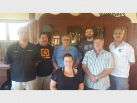 Meet the team: The South Coast Warriors Rugby Club's new executive committee is (from left) Ettiene Nel, Riaan Coleman (treasurer), Manie Cloete (president), David van Zyl, André Koekemoer and Danie van Tonder with Angi Strachan (secretary) in front. Absent was Lulu Bodla (transformation and development).