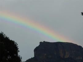 Rainbow over the Drakensberg.