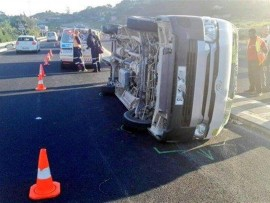 One of the taxis involved in the collision. (Pic: Netcare 911)