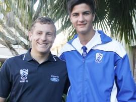 Loflike prestasie: HSN rugby seuns Jacques Gous (links) en Wensel Schonken was onlangs vir die Reitz week gekies.