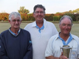 Ding-dong: Winning the 2016 KBA men's trips are The Bell players (from left) Barry Delvin, Rassie Erasmus and Jimmy Holtshausen.