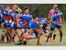 On the charge: Juan van den Berg leads from the front for the Riversmead South Coast Warriors against Durban Crusaders at Douglas Mitchell last Saturday. PHOTO BY JACQUES SELLSCHOP