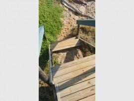 The broken stairway at Sunwich Port beach.