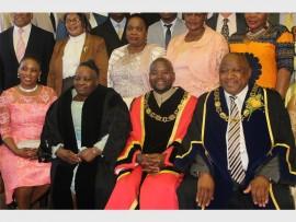 Ugu Exco member Cllr  Nomfundo Zwane, Speaker Cllr Ntombifikile Gumede, Mayor Cllr Tolomane Myayiza and deputy mayor Mondli Chiliza.