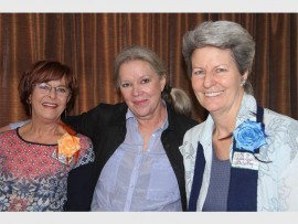 Guest speaker  Louise Kruger (middle) with Loretta Joffe (left) and Antoinette Meyer.