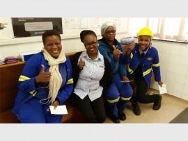 Illovo Sugar employees (from left) Nomfundo Ngcobo, Nonhle Ntshulane, Nokwefana Madlala and Zombuso Mbhele.
