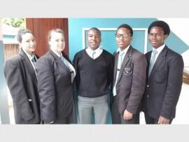 Matric pupils (from left) Skye Labuschagne (2016 Fellowship Award recipient), head girl Keira Crocker, Hesitate Mbhele, head boy Sibonelo Msabala and Thabiso Luthuli were honoured at last Friday's valediction.