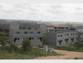 Masinenge informal settlement's unfinished units.