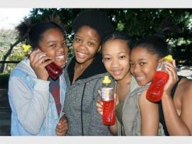 Zanokuhle Hlatshwayo (left), Zizile Xoko, Mbali Mashinini and Kuhlekonke Hlatshwayo.