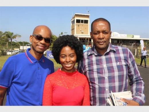 Xolani Dlangalala, Nomonde Bhengu and Patrick Sithole.