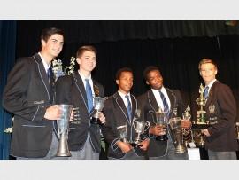 Wensel Schonken, Charles Thompson, Thabiso Khowa, Sibusiso Ngqengelele en Otto Botha was by verlede week se sportstoekennings beloon vir skitterende prestasies.