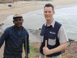 Mandla Khubisa and Jason Howard-Tripp from Margate Engineering.