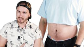 Men trying out crop tops for a week