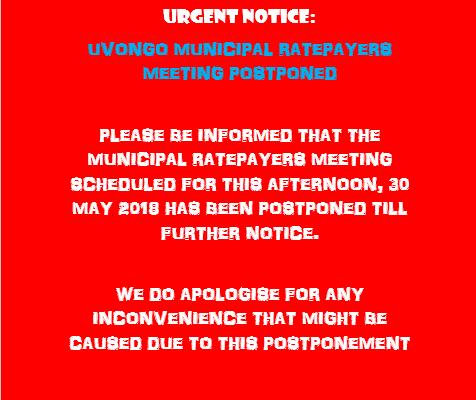 take note scheduled ugu water meeting postponed south coast herald