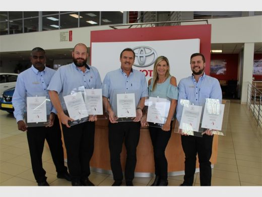 Showing Off The Awards Received As Part Of The Annual Toyota Dealer Awards  Are Halfway Toyota Shelly Beachu0027s (from Left) Sambo Govender (parts), ...