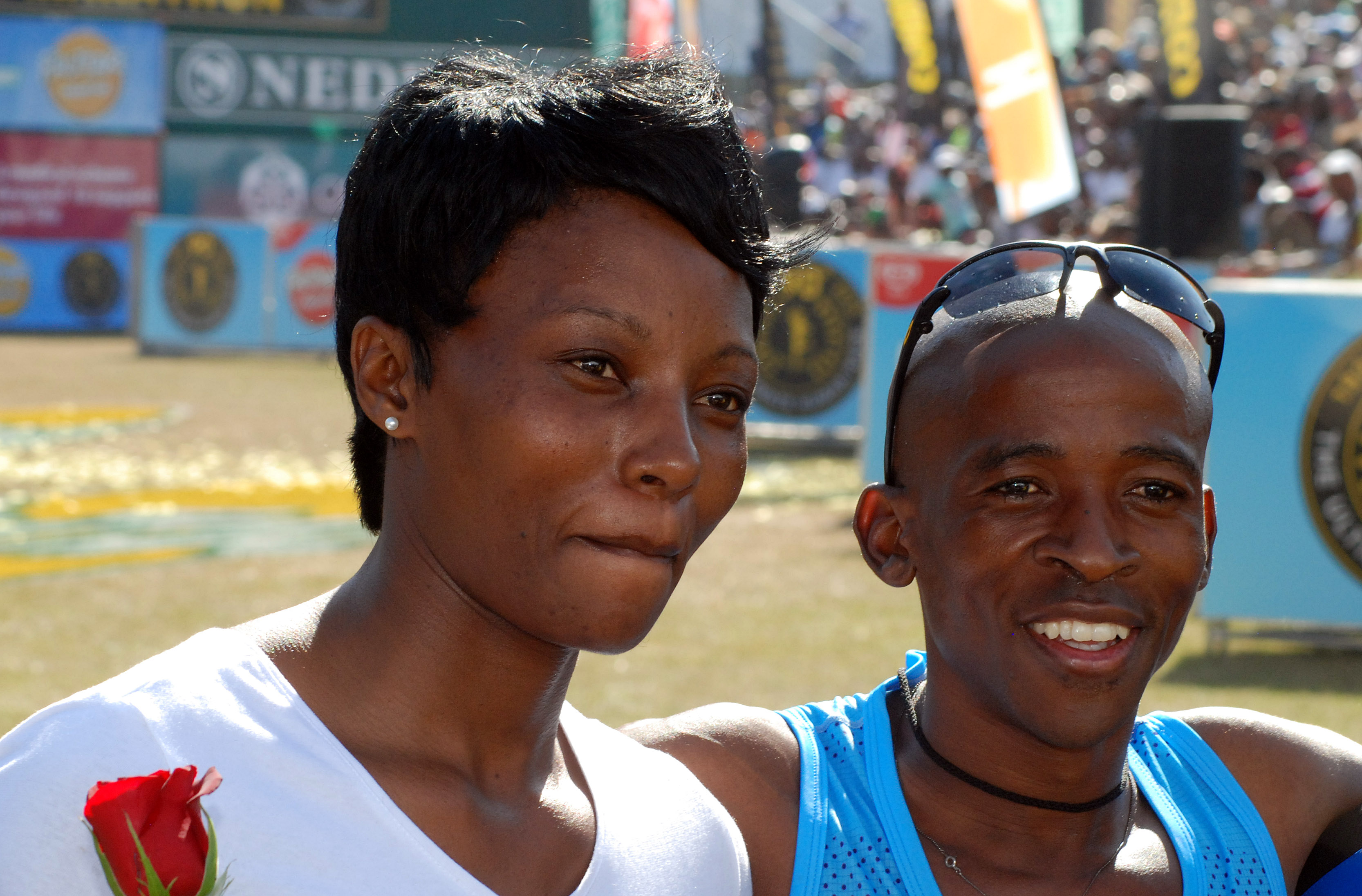 Comrades gift to tie the knot with pietermaritzburg police woman comrades 2015 winner gift kelehe and his fiancee nombuso maphanga at the finish line on comrades day on saturday they will celebrate their pre wedding negle Images