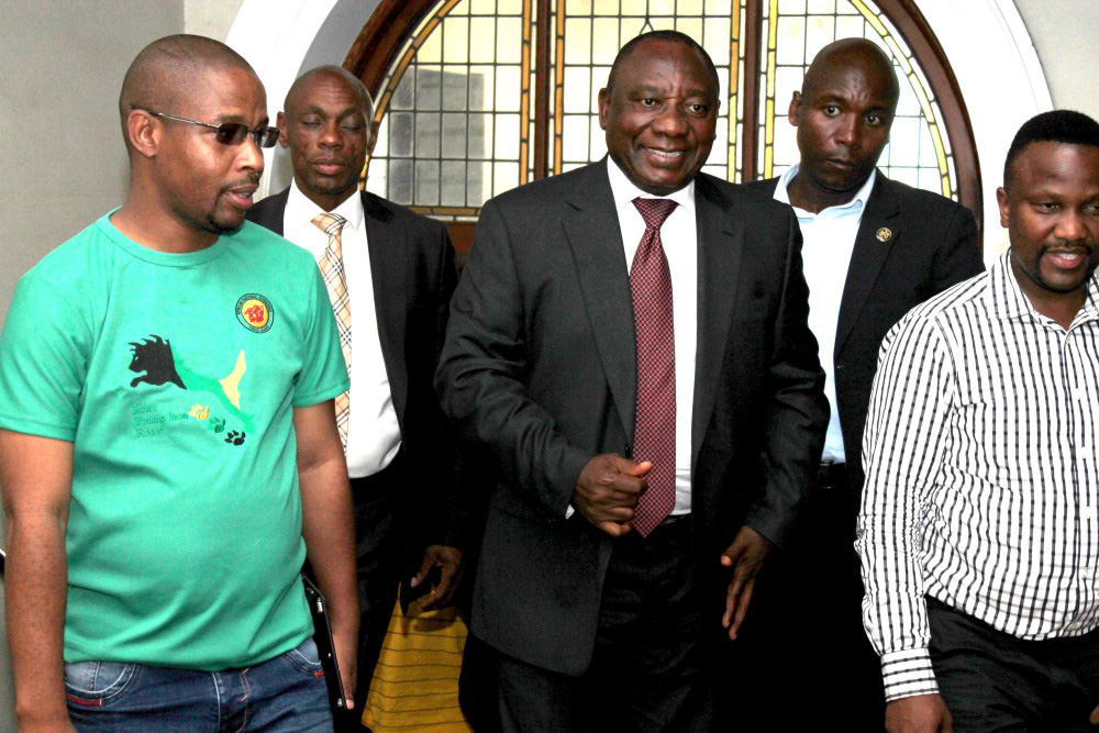 Ramaphosa In Pmb Public Eye