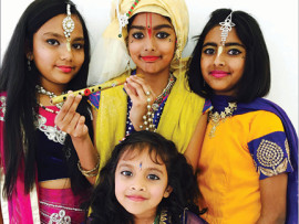 Dancers who will be performing at the event, Akira Arjoon, Anuradha Gangaram, Tiera Rajaram and Divashakti Moodley