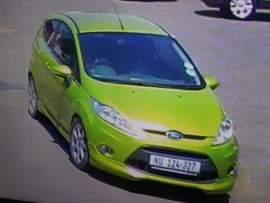 The Ford Fiesta that was used as a getaway car