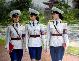 What do North Korea's traffic cops all have in common?