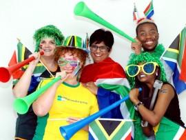 Maritzburg sun staff show their support for the boytjies