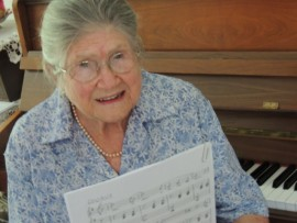 98 year old Ruth Hall of Amberfield