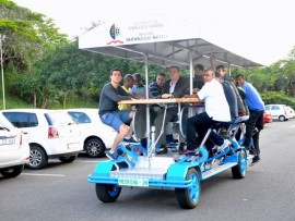 The human bus that was built by UKZN students